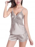 Sexy Silk Sleepwear Set