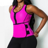Neoprene Tank Top with Sports Bra and Adjustable Waist Trainer Belt