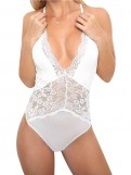 One Piece V-Neck Bodysuits Lace Teddies