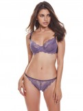 Purple Transparent Lace Bra Sets