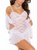 White Lace Chemise Set
