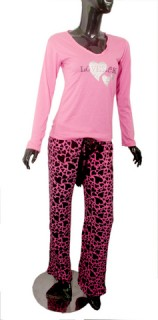 Hot pink pajama set