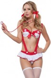 Naughty Nurse Bra Set Costume Lingerie