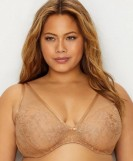 Nude Curvy Couture Innovation Glistening Sheer Plunge Bra