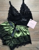 2 Piece black and lemon sleepwear set