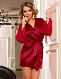 Red Satin Lace Sexy Kimono Pajamas