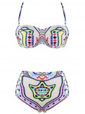 Bohemian Halter High Waist Swimwear