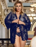 Blue Eyelash long sleeve Robe