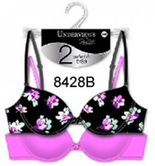 Poly spandex bra. 2 pcs on a hanger
