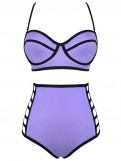 High Waist Neoprene Bikini Set