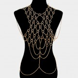 Metal Hoop Link Body Chain