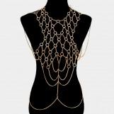 Metal Hoop Link Body Chain