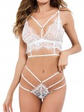 Strappy Open Up Lace Brallette Set