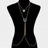 2 Pcs Tassel Drop Body Chain