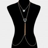 2 Pcs Tassel Drop Body Chain